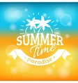 summer holiday vacation background poster vector image vector image