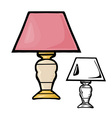 Table Lamps vector image