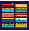 Textures for Games Platform Set of vector image vector image