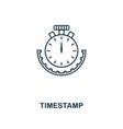 timestamp outline icon monochrome style design vector image vector image