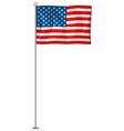 usa flag on white background vector image vector image