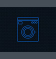 washing machine icon home appliances symbol vector image vector image