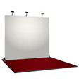 white simple exhibition stand booth design vector image