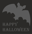 Happy Halloween party card with hand drawn bat vector image