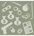 gangster objects silhouette vector image