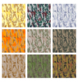 Set of seamless camouflage patterns vector image