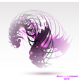 Abstract colorful geometric purple background vector image vector image