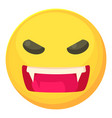angry smiley icon cartoon style vector image vector image
