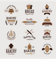 bakery badge icon fashion modern style wheat vector image