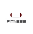 barbell fitness vector image vector image