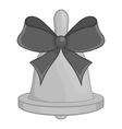 bell with bow icon black monochrome style