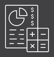 budget planing line icon business and finance vector image