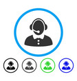 call center woman rounded icon vector image vector image