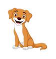 cartoon happy dog on white background vector image vector image