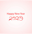 chinese zodiac greeting card designhappy vector image