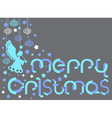 Christmas Card with paper letters vector image vector image