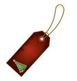 christmas tree cartoon gift tag vector image vector image