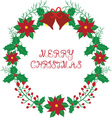 Christmas wreath with bell vector image vector image