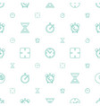 clock icons pattern seamless white background vector image vector image