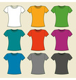 Colorful t-shirts template vector image vector image