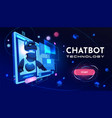 conversational chatbot service website vector image