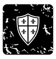 Crest icon grunge style vector image