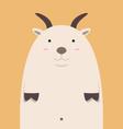 cute fat big goat vector image