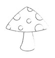 cute mushroom isolated icon vector image