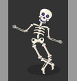 dancing skeleton mexican day dead or dia de vector image