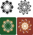 Decorative flowers 8 vector image vector image