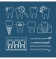 Dental tooth icons vector image vector image