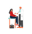 doctor and patient flat style design vector image vector image