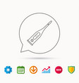 electronic thermometer icon measurement tool vector image vector image