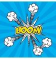 explosion pop art style vector image