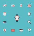 flat icons id audience journal and other vector image vector image