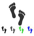 Footprints flat icon
