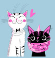 funny kittens lovers vector image vector image