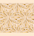 geometric baige and gold luxury seamless pattern vector image vector image
