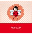Girl with ladybug costume vector image