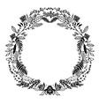 Hand Sketched Floral Frame vector image vector image