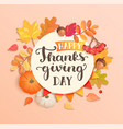 happy thanksgiving day banner poster vector image