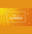 hello summer summer time background vector image vector image