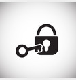 internet security lock on white background vector image vector image
