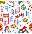 kids playground background pattern on a white vector image vector image