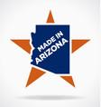 made in arizona logo vector image vector image