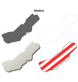 Madera County California outline map set vector image vector image