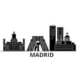 madrid architecture city skyline travel vector image vector image