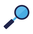 magnifying glass searching on white background vector image