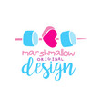 marshmallow original logo design label for vector image vector image