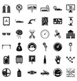 mechanic car icons set simple style vector image vector image